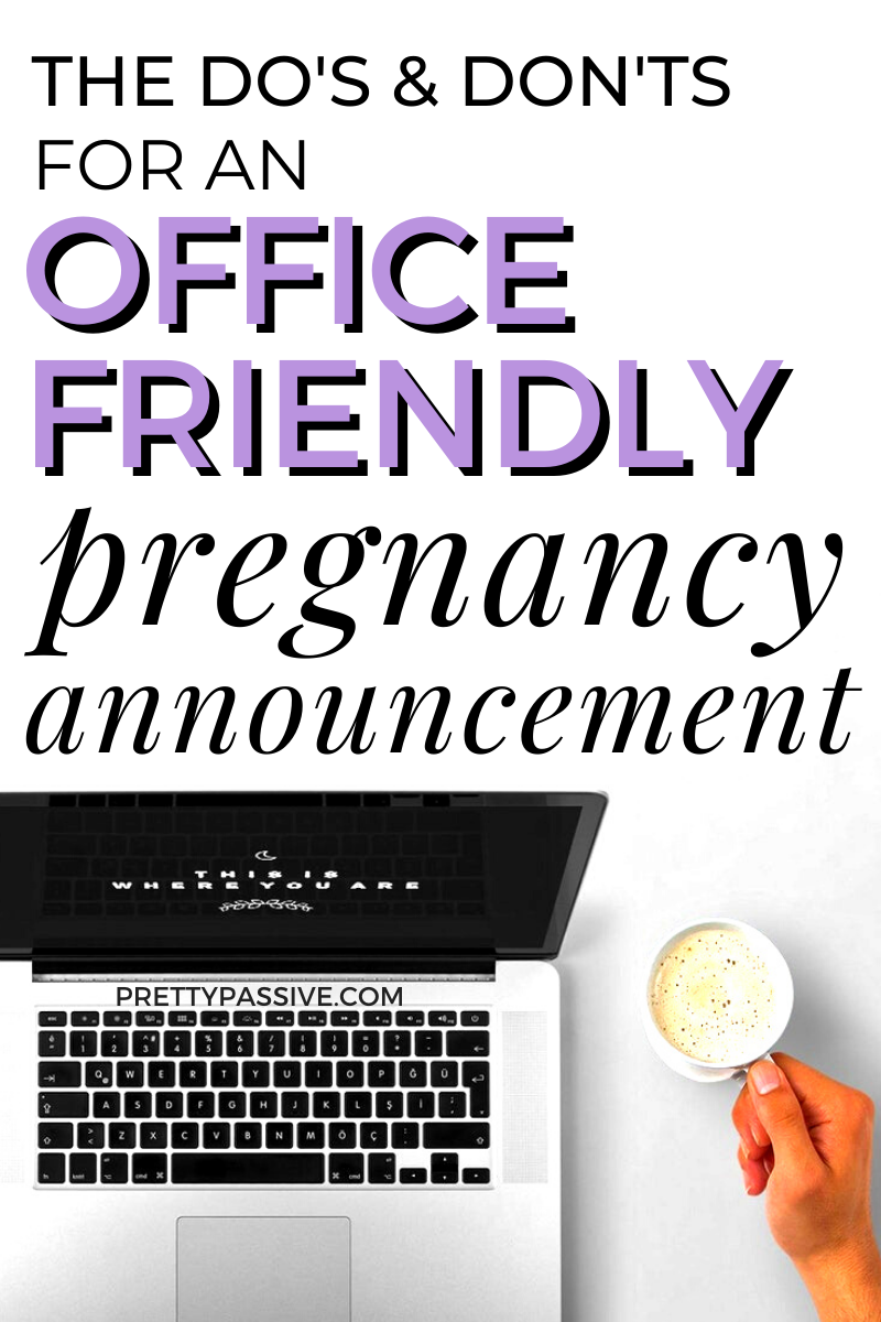 what to cover (& what to avoid) when you tell your boss you're pregnant!