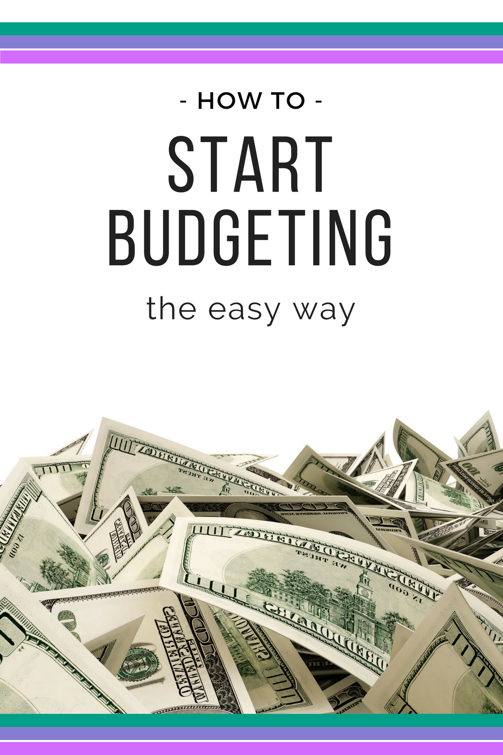 the easy way to start a budget