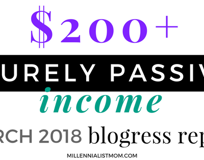 March 2018 Blog Income Report