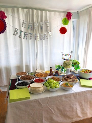 taco twosday birthday party decorations and food ideas - super cheap