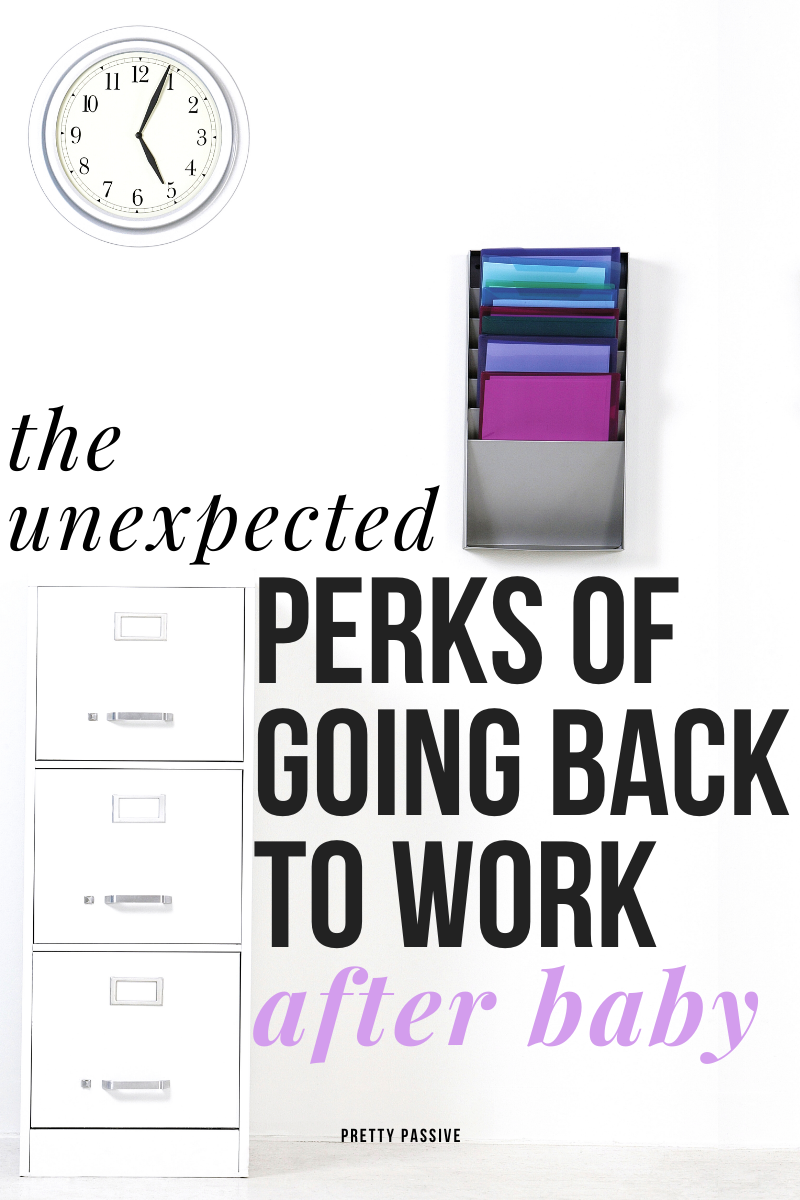 how to be excited to go back to work. here are some benefits new working moms can look forward to at the office...