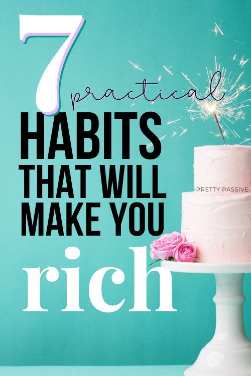 manifesting a big bank account takes more than thought work. your routines dominate your intentions and your habits create your routine. these are some super simple rich people habits you can pick up today.