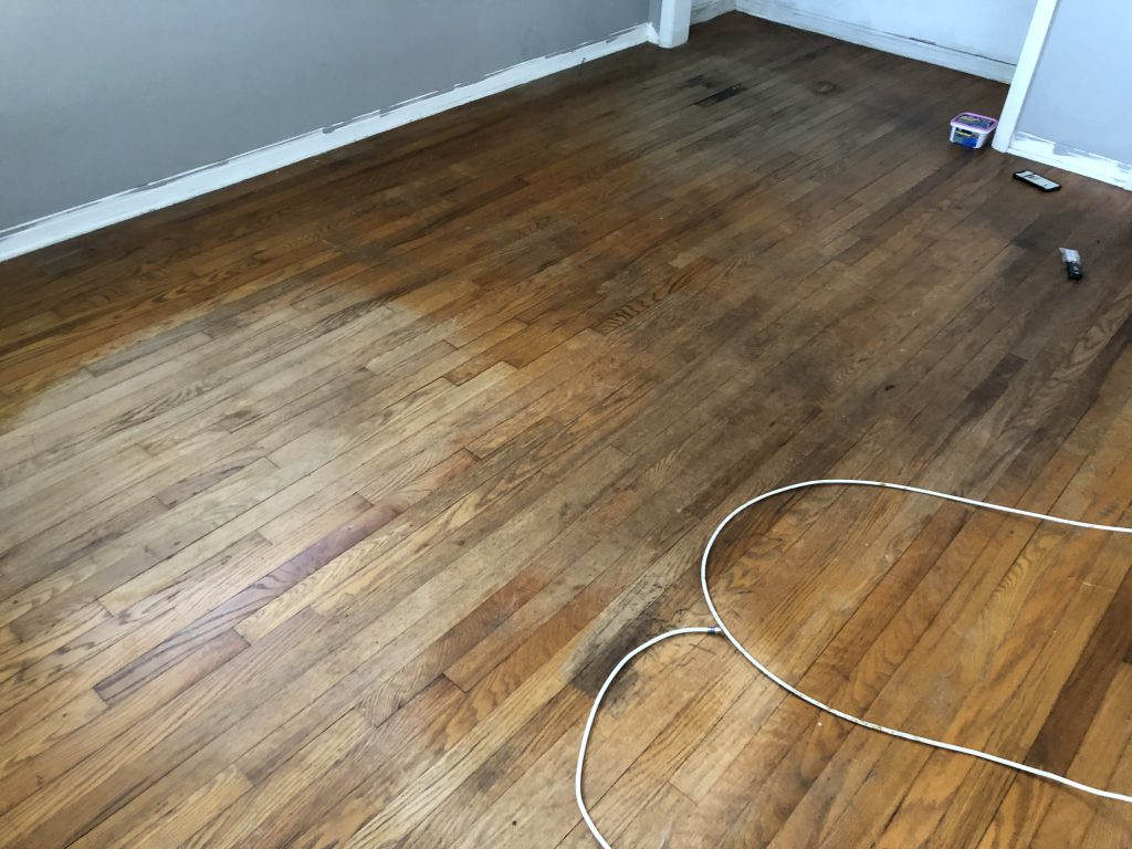 before picture #2 DIY hardwood floor refinishing on a budget