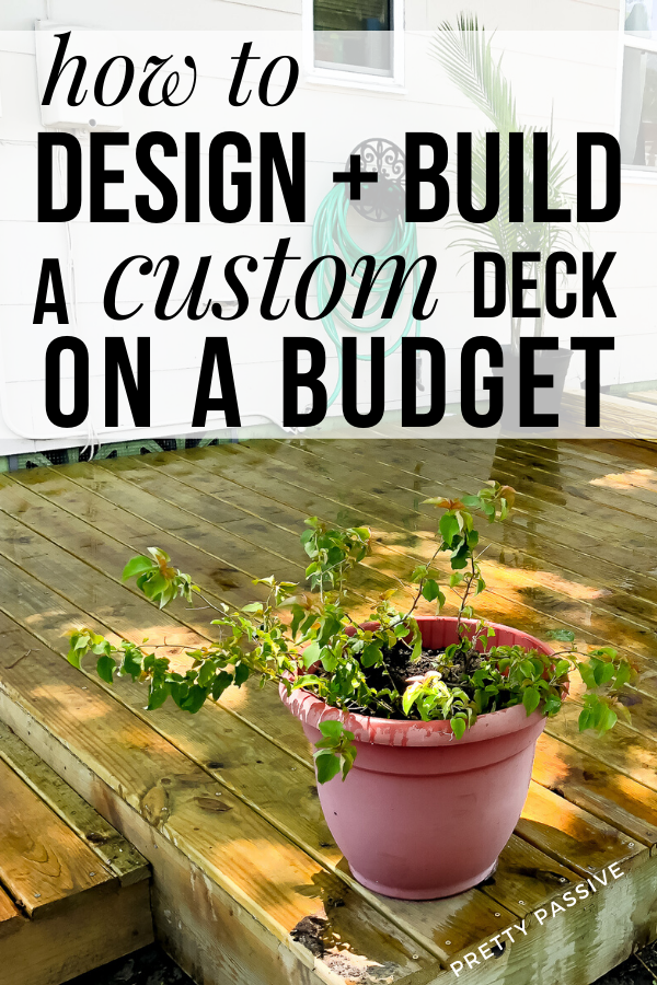 How to design + build a simple DIY floating deck on a shoe string budget - a frugal mom's guide to deck building