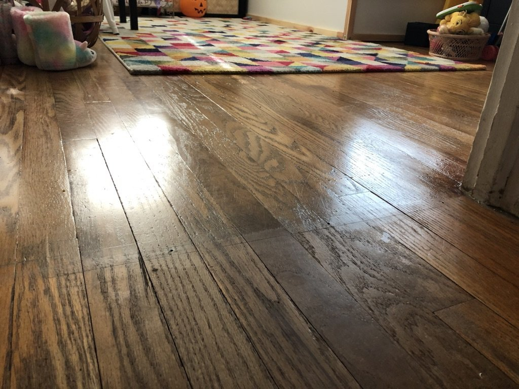 after - refinishing hardwood floors on a budget