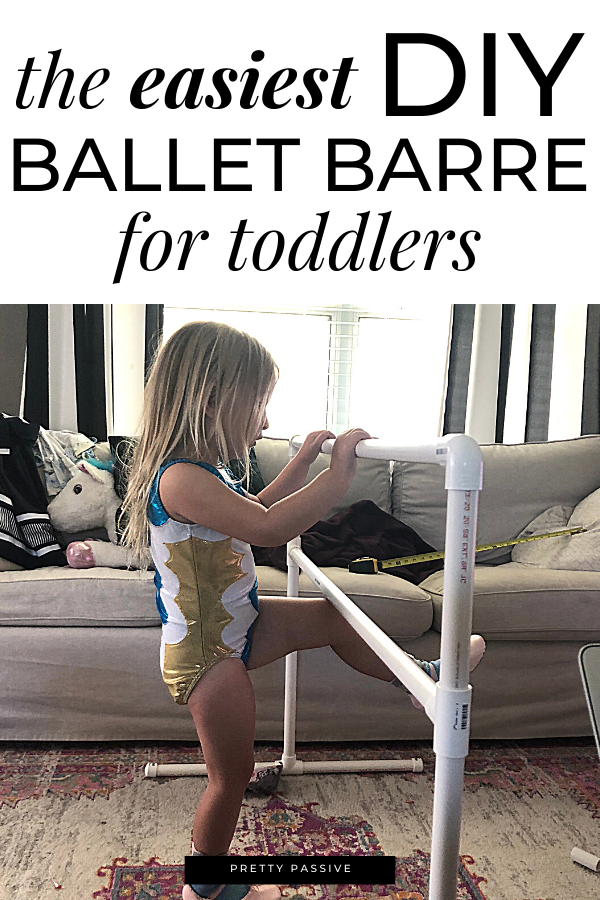 easiest diy toddler ballet barre - frugal DIY in a day