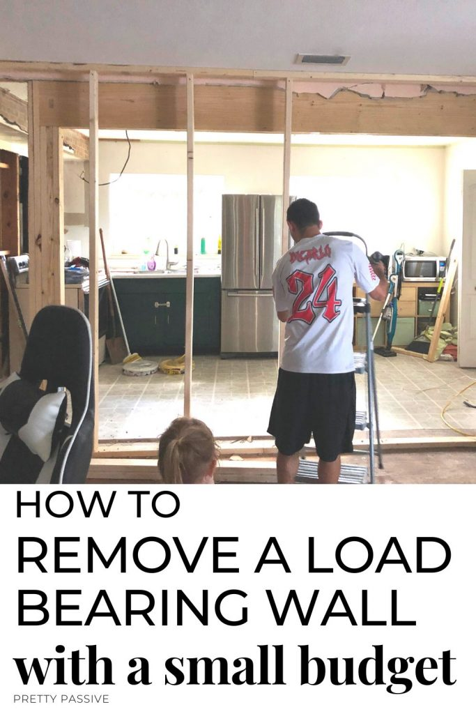 Removing a load bearing wall DIY - the cheapest way to open a kitchen up to the living room. Kitchen renovation ideas