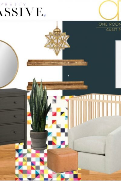 ORC 2020 mood board - one room challenge - baby boy's space themed nursery